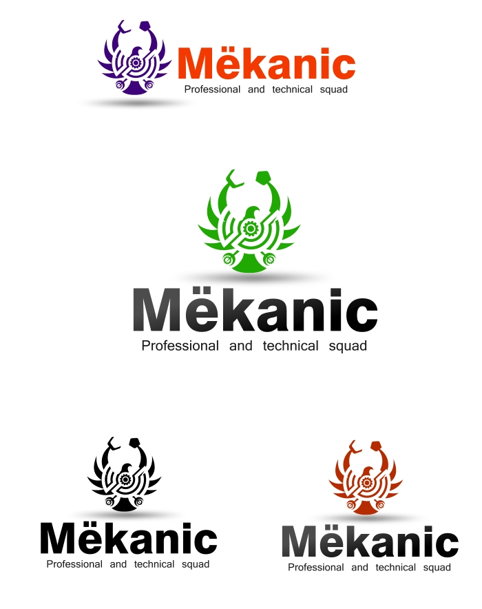Logo Design by Private User - Entry No. 171 in the Logo Design Contest Creative Logo Design for MËKANIC - Professional and technical squad.