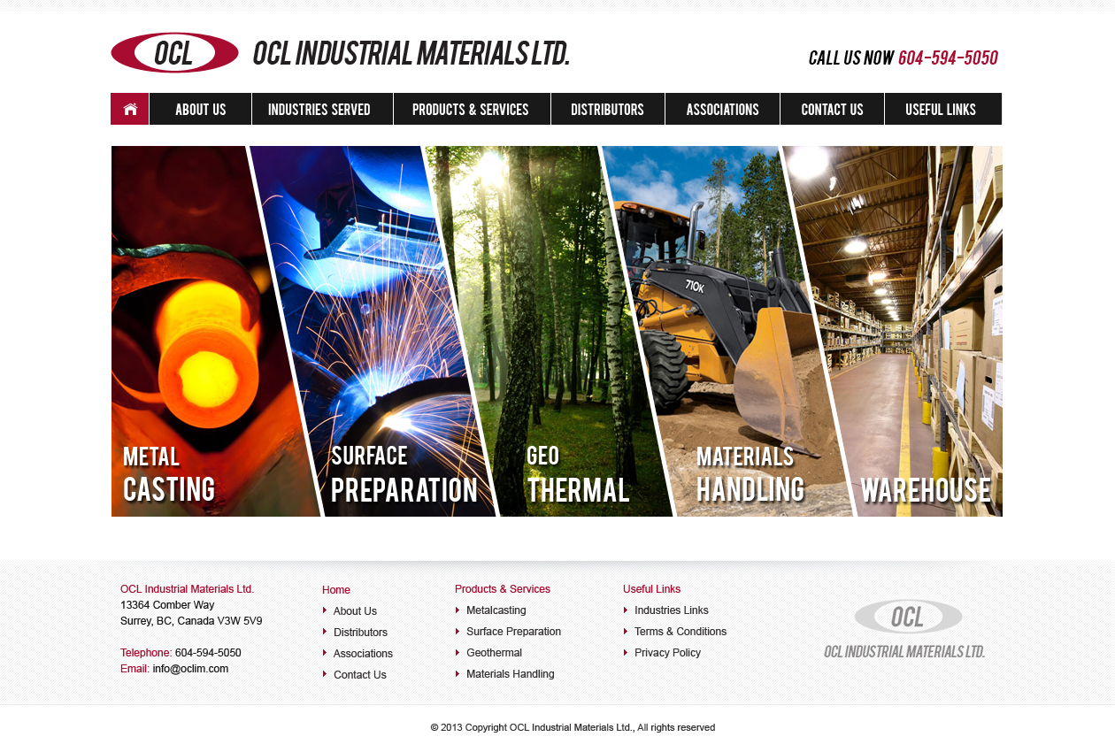Web Page Design by Emad A Zyed - Entry No. 21 in the Web Page Design Contest Imaginative Web Page Design for OCL Industrial Materials Ltd..