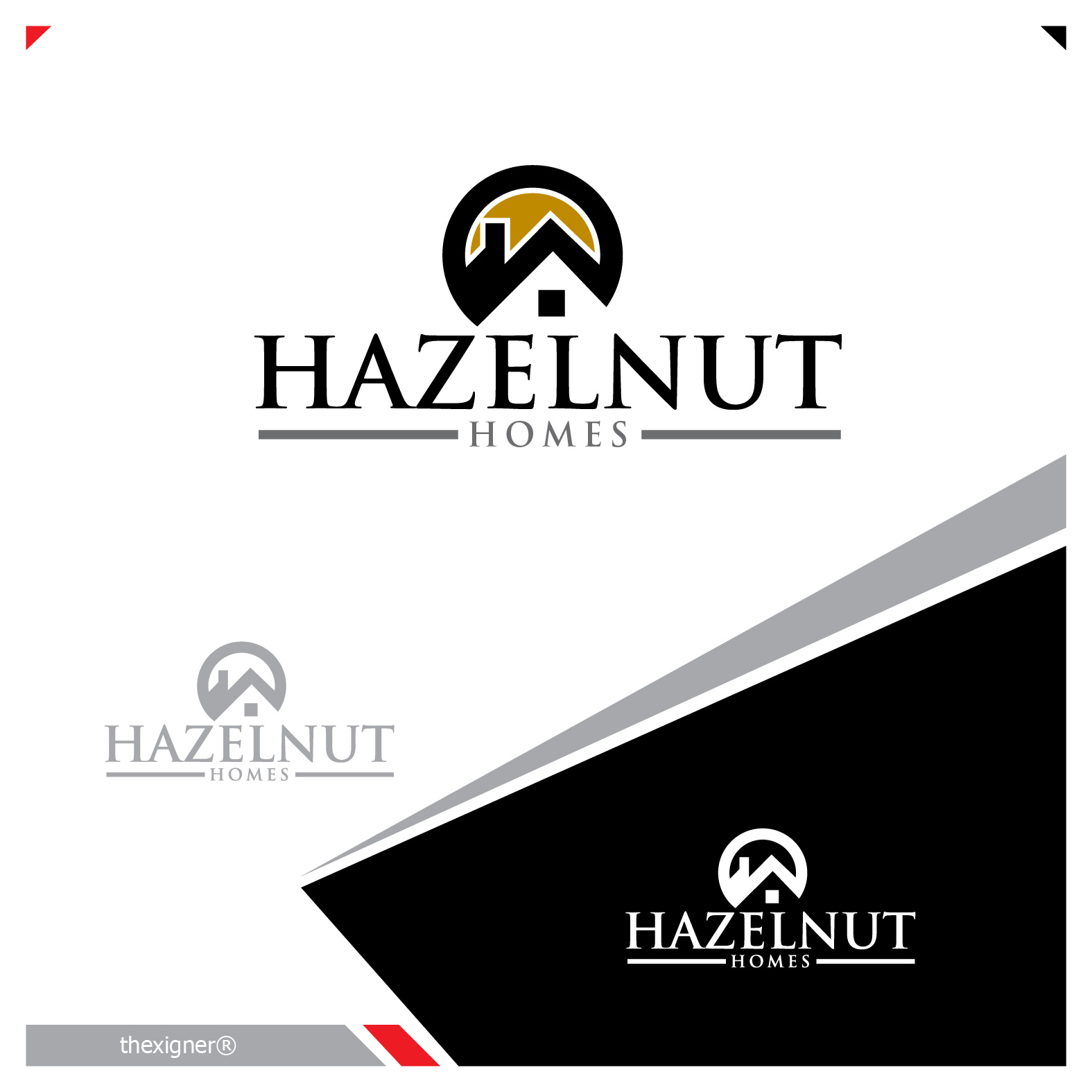 Logo Design by lagalag - Entry No. 69 in the Logo Design Contest Unique Logo Design Wanted for Hazelnut Homes.