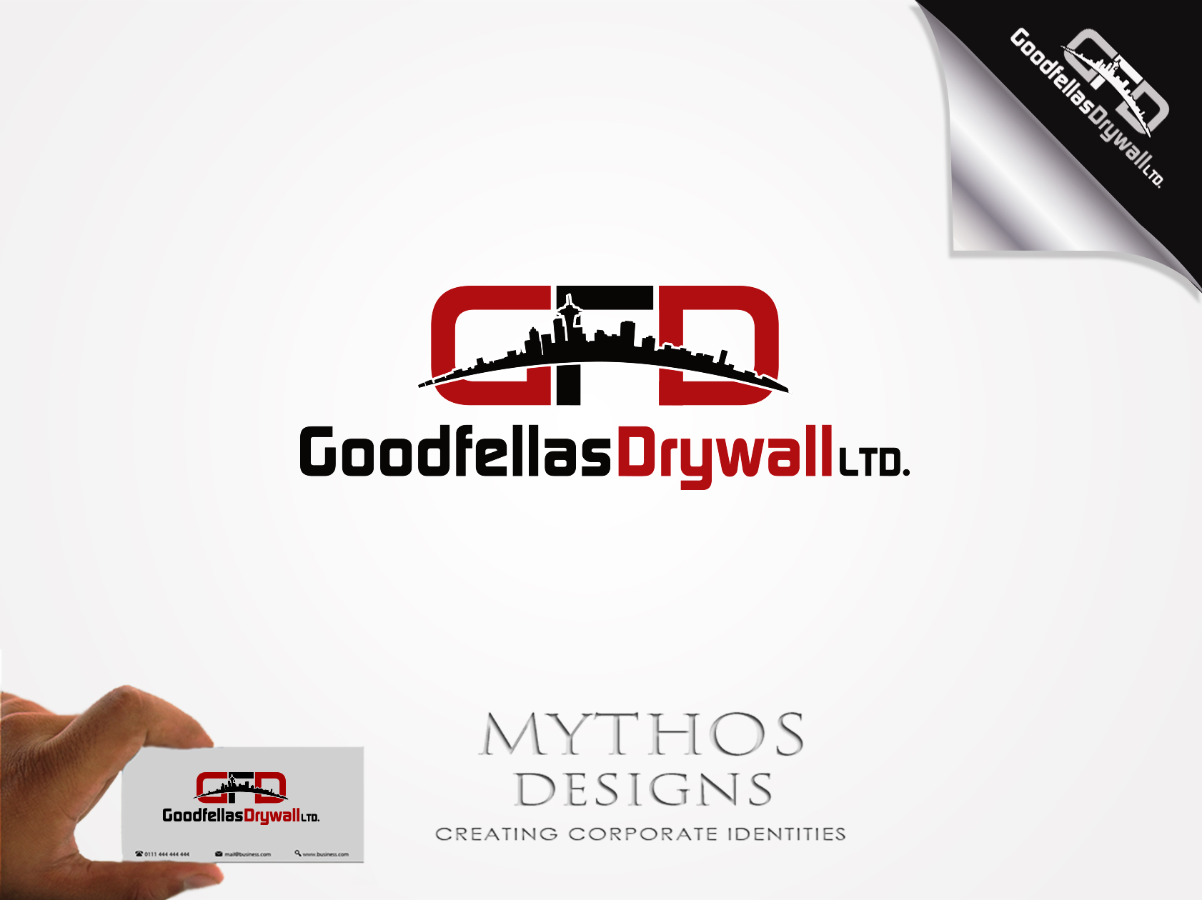 Logo Design by Mythos Designs - Entry No. 200 in the Logo Design Contest Creative Logo Design for Goodfellas Drywall.