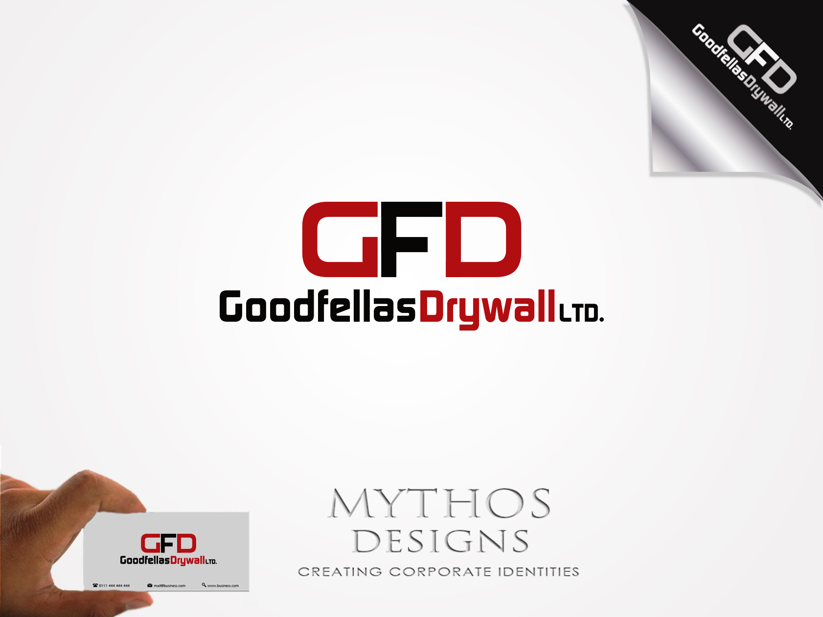 Logo Design by Mythos Designs - Entry No. 202 in the Logo Design Contest Creative Logo Design for Goodfellas Drywall.