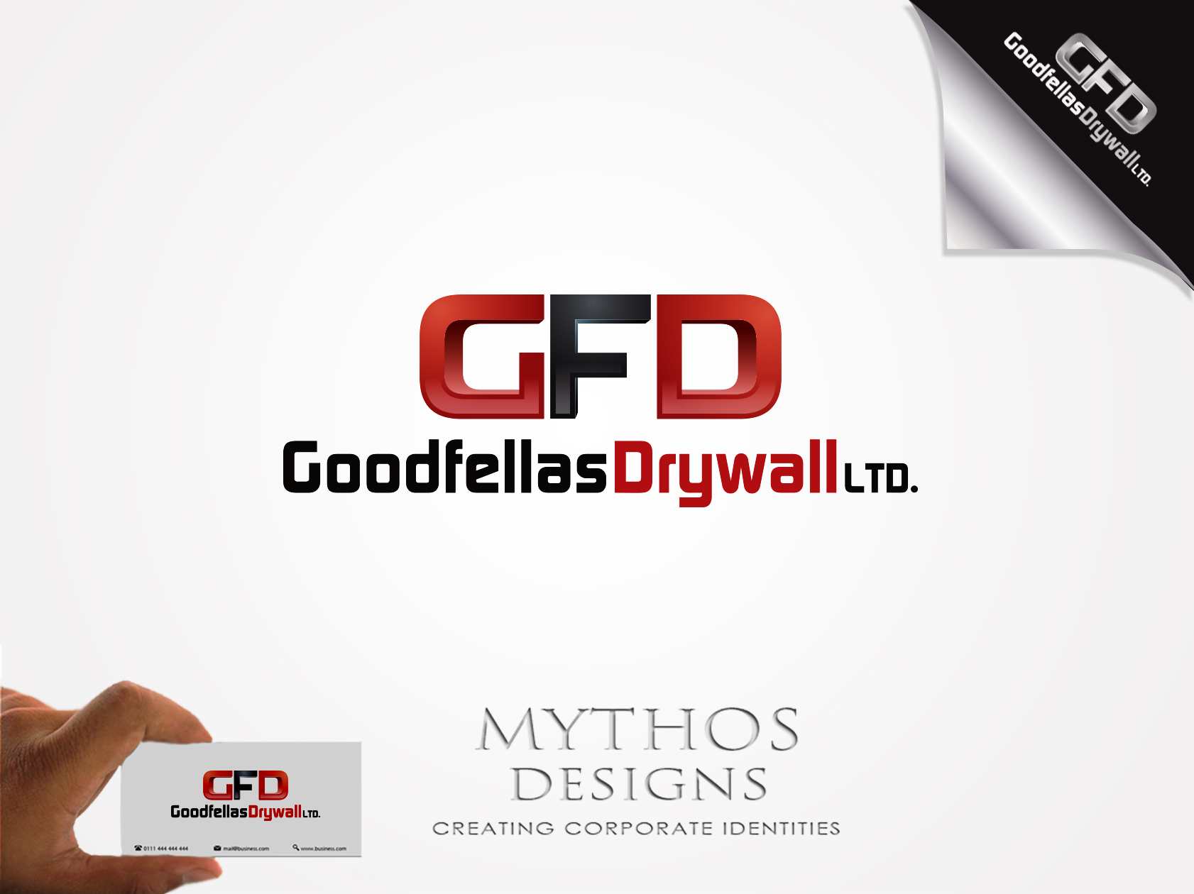 Logo Design by Mythos Designs - Entry No. 203 in the Logo Design Contest Creative Logo Design for Goodfellas Drywall.