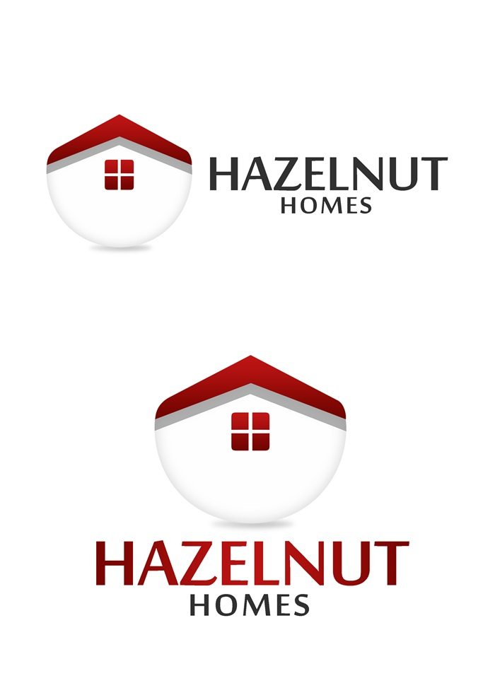 Logo Design by Respati Himawan - Entry No. 80 in the Logo Design Contest Unique Logo Design Wanted for Hazelnut Homes.