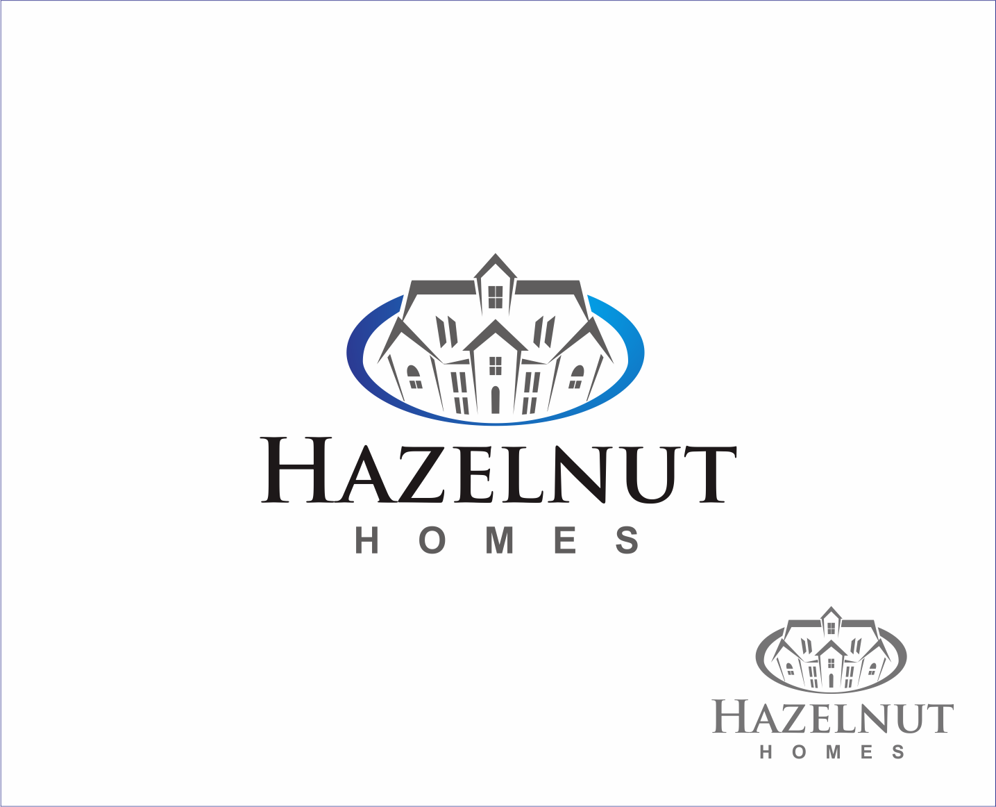 Logo Design by Armada Jamaluddin - Entry No. 89 in the Logo Design Contest Unique Logo Design Wanted for Hazelnut Homes.