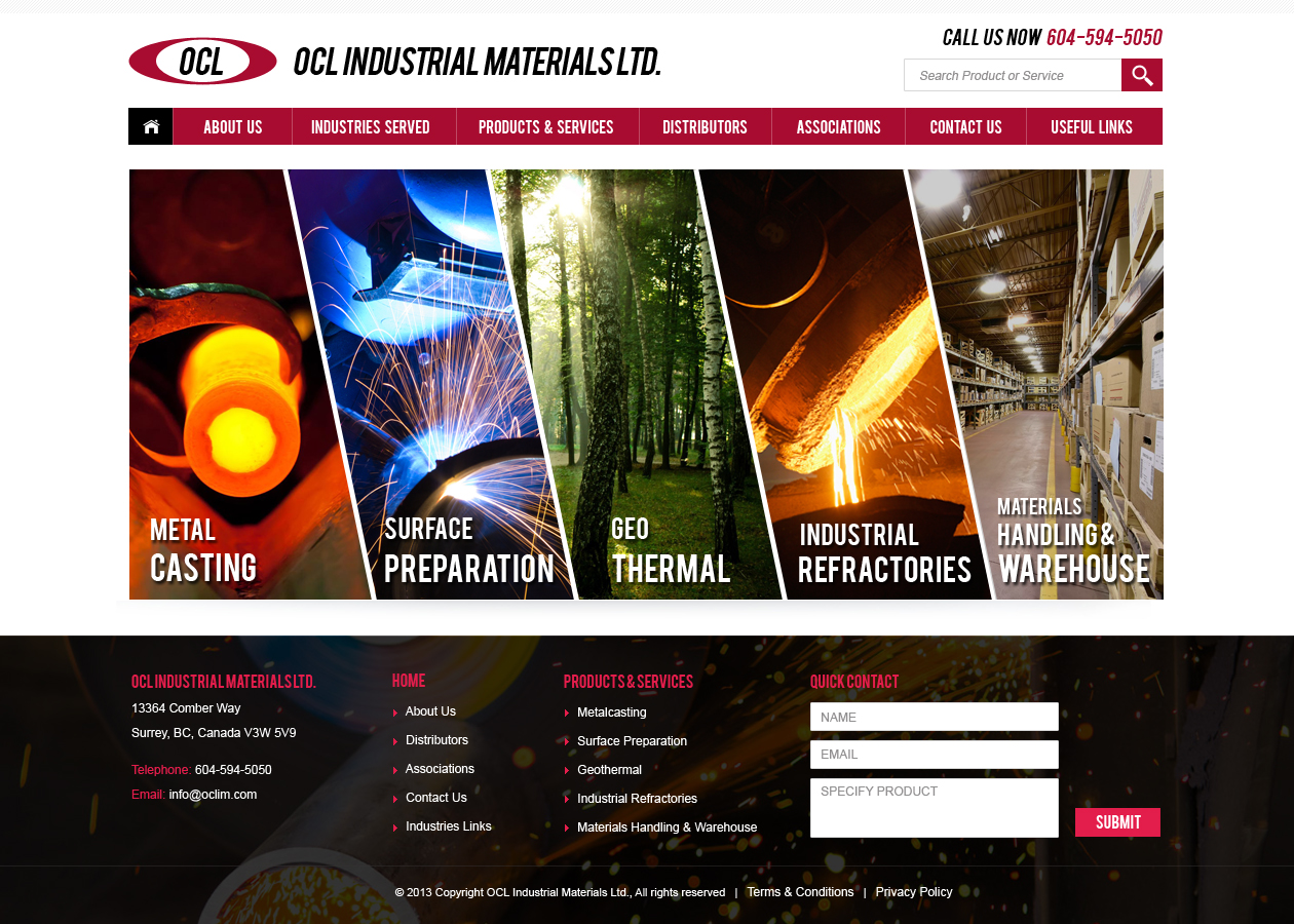 Web Page Design by Emad A Zyed - Entry No. 24 in the Web Page Design Contest Imaginative Web Page Design for OCL Industrial Materials Ltd..