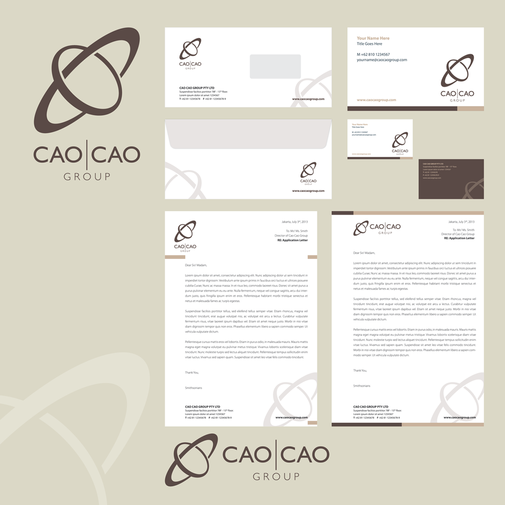 Logo Design by kianoke - Entry No. 233 in the Logo Design Contest cao cao group pty ltd Logo Design.