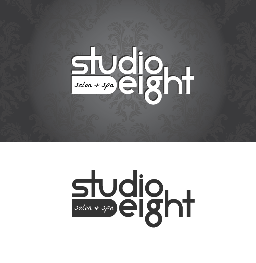 Logo Design by Christina Evans - Entry No. 1 in the Logo Design Contest Captivating Logo Design for studio eight salon & spa.