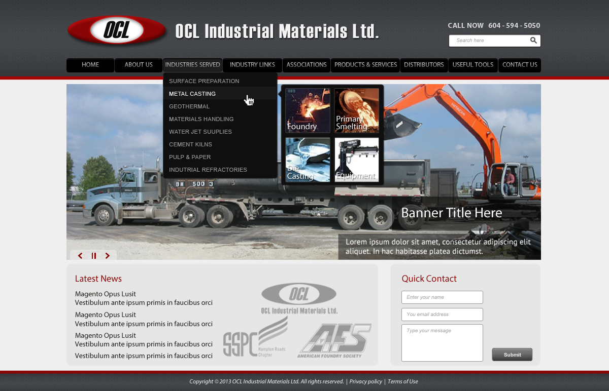 Web Page Design by omARTist - Entry No. 42 in the Web Page Design Contest Imaginative Web Page Design for OCL Industrial Materials Ltd..