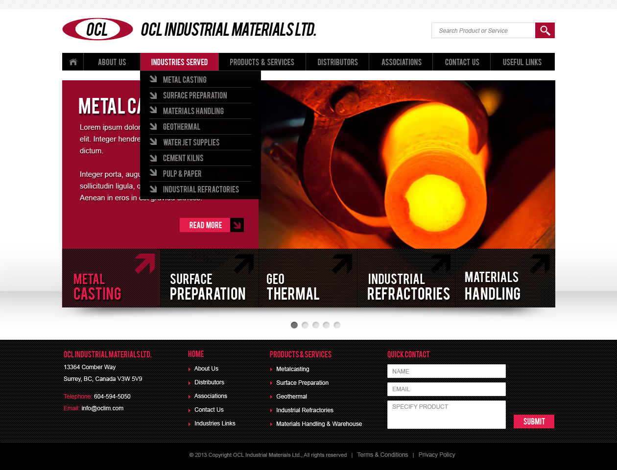Web Page Design by Emad A Zyed - Entry No. 43 in the Web Page Design Contest Imaginative Web Page Design for OCL Industrial Materials Ltd..