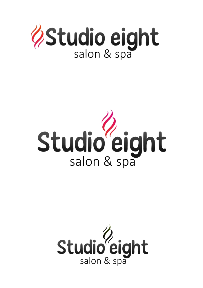 Logo Design by Private User - Entry No. 3 in the Logo Design Contest Captivating Logo Design for studio eight salon & spa.