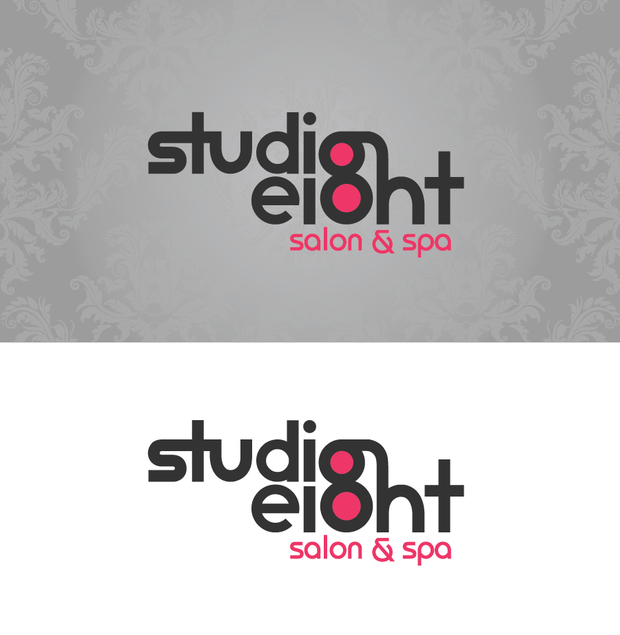 Logo Design by Christina Evans - Entry No. 4 in the Logo Design Contest Captivating Logo Design for studio eight salon & spa.