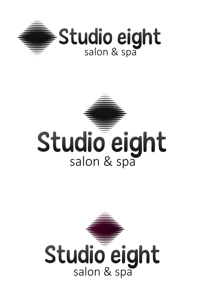 Logo Design by Private User - Entry No. 5 in the Logo Design Contest Captivating Logo Design for studio eight salon & spa.