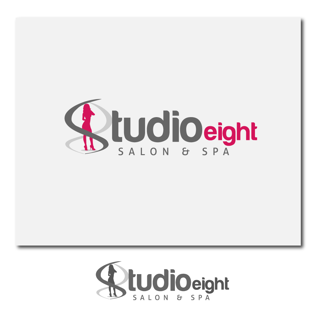 Logo Design by rockin - Entry No. 8 in the Logo Design Contest Captivating Logo Design for studio eight salon & spa.