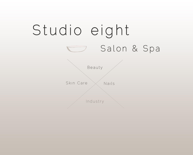 Logo Design by Thodoris Sairoglou - Entry No. 9 in the Logo Design Contest Captivating Logo Design for studio eight salon & spa.