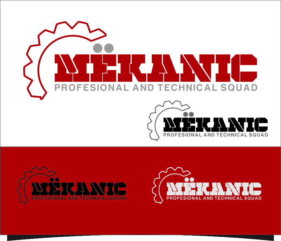 Logo Design by RasYa Muhammad Athaya - Entry No. 218 in the Logo Design Contest Creative Logo Design for MËKANIC - Professional and technical squad.