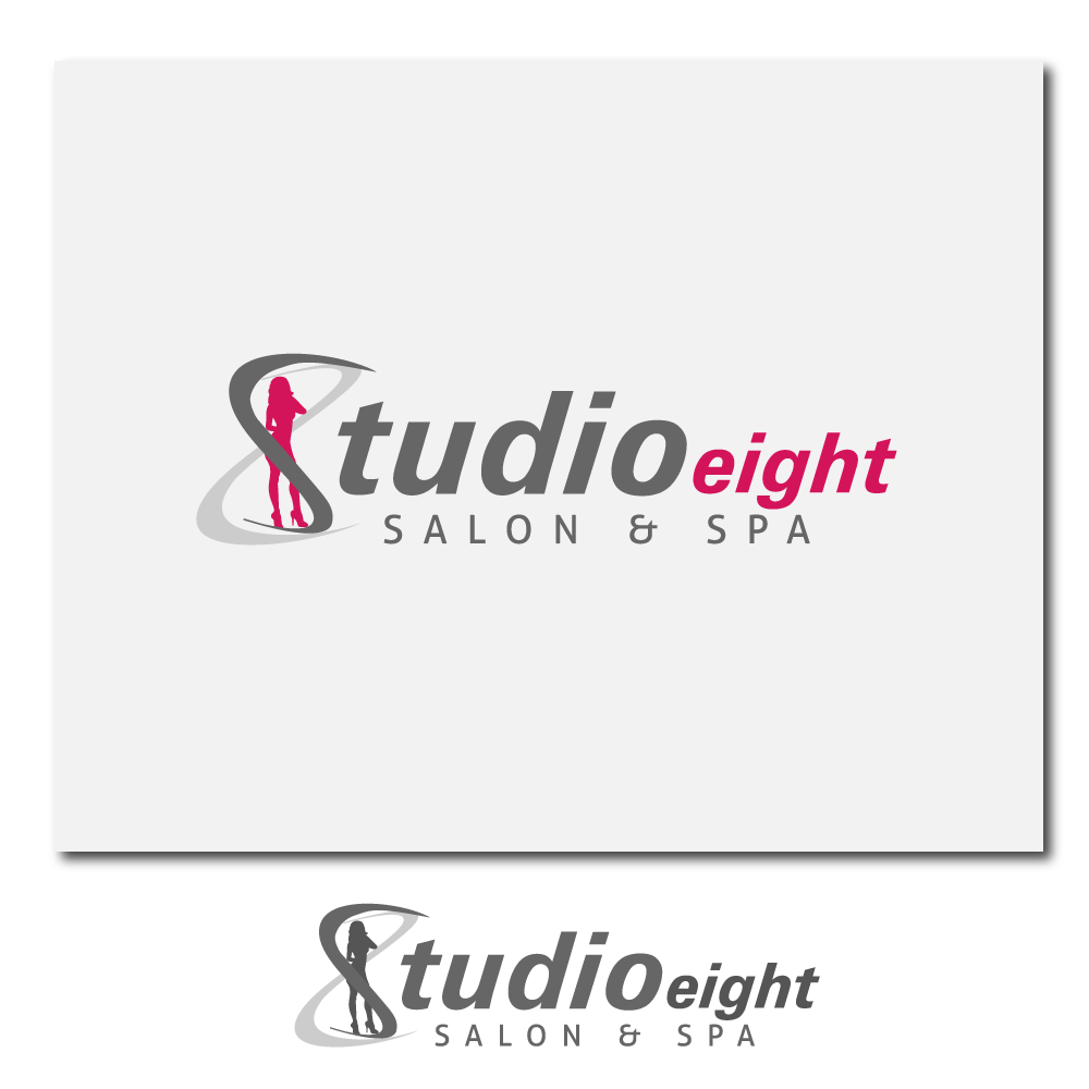 Logo Design by rockin - Entry No. 11 in the Logo Design Contest Captivating Logo Design for studio eight salon & spa.