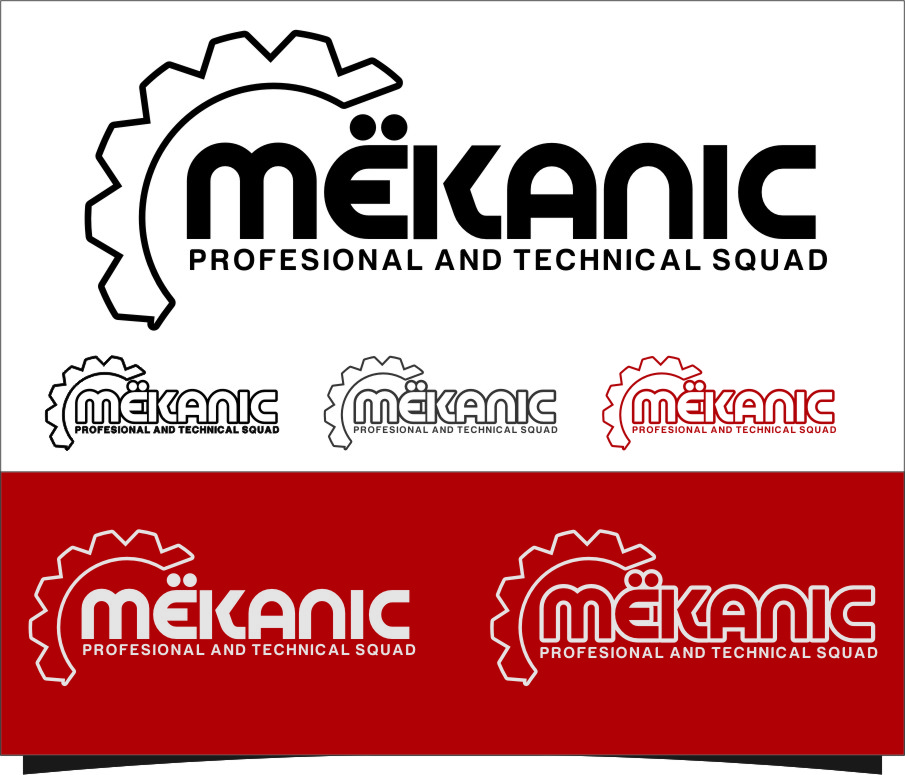 Logo Design by Ngepet_art - Entry No. 219 in the Logo Design Contest Creative Logo Design for MËKANIC - Professional and technical squad.