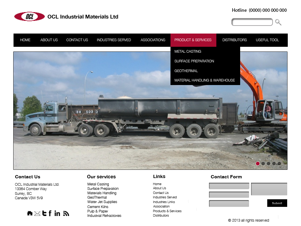 Web Page Design by 3draw - Entry No. 46 in the Web Page Design Contest Imaginative Web Page Design for OCL Industrial Materials Ltd..
