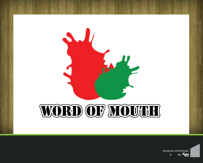 Logo Design by robbiephung - Entry No. 43 in the Logo Design Contest Word Of Mouth.
