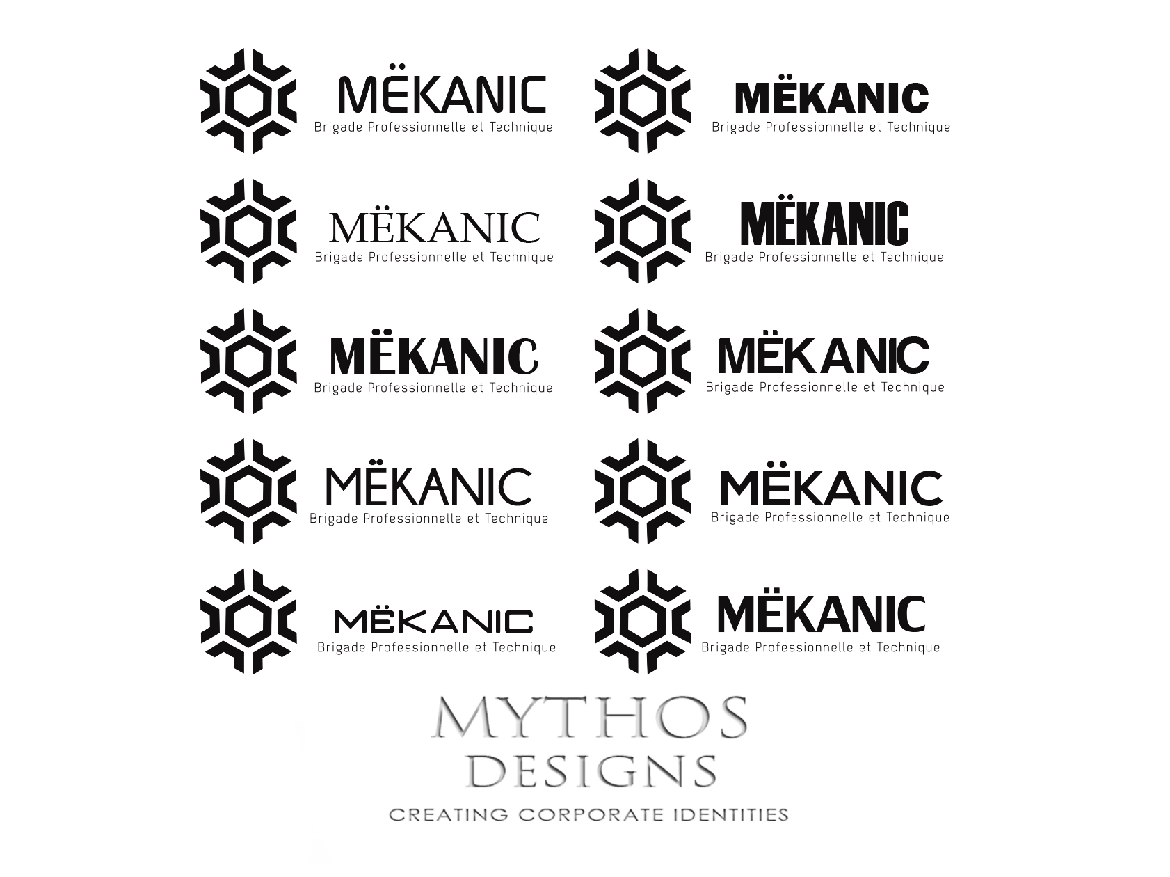 Logo Design by Mythos Designs - Entry No. 237 in the Logo Design Contest Creative Logo Design for MËKANIC - Professional and technical squad.