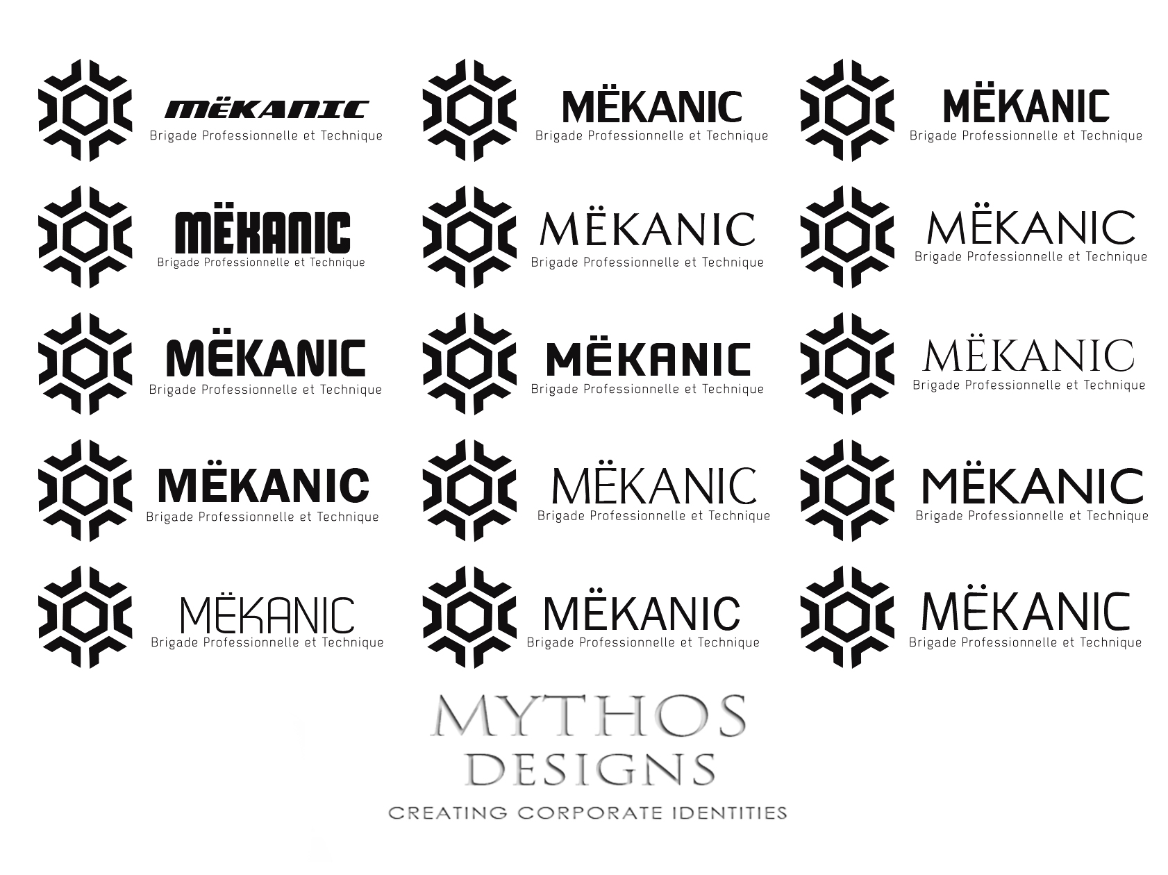 Logo Design by Mythos Designs - Entry No. 238 in the Logo Design Contest Creative Logo Design for MËKANIC - Professional and technical squad.