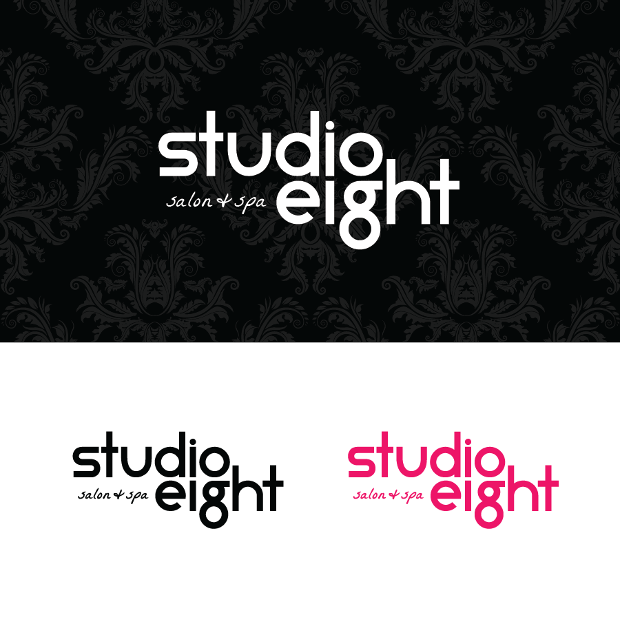 Logo Design by Christina Evans - Entry No. 25 in the Logo Design Contest Captivating Logo Design for studio eight salon & spa.
