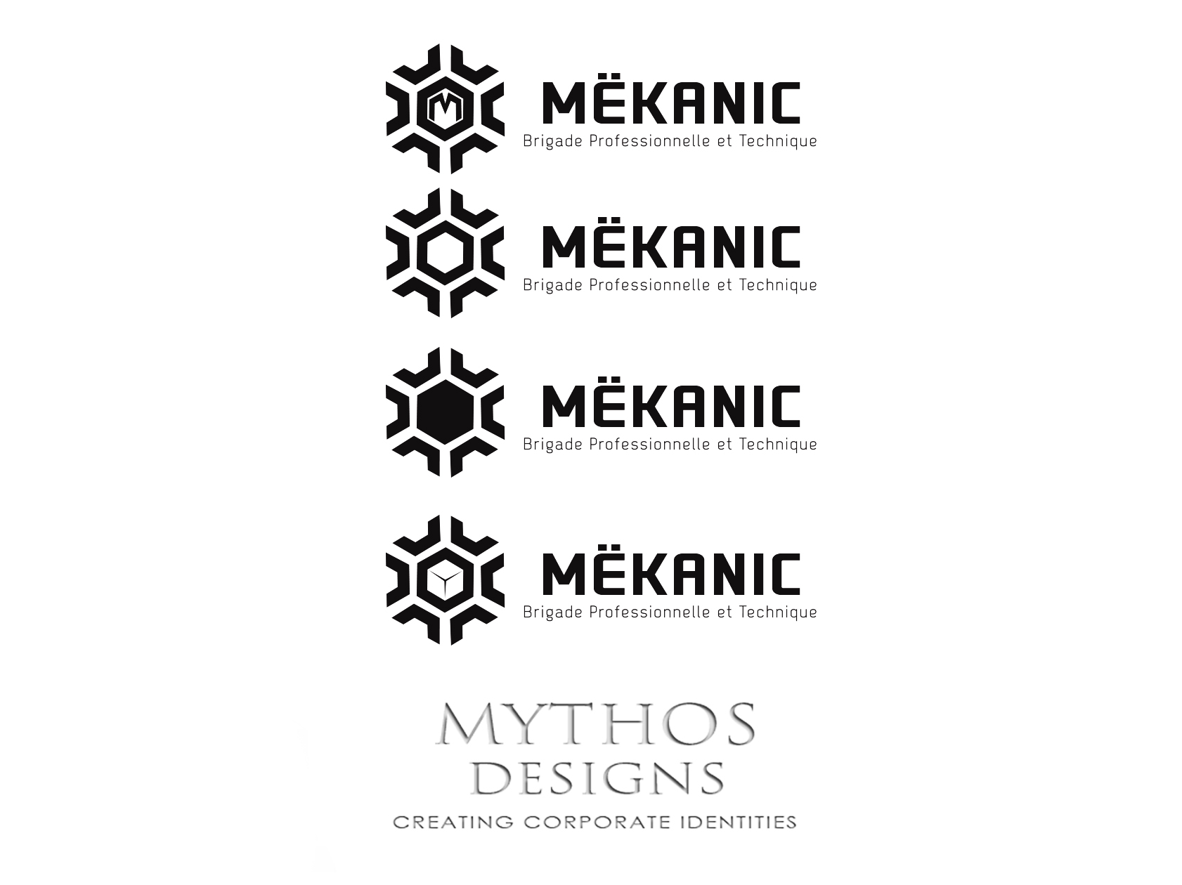 Logo Design by Mythos Designs - Entry No. 241 in the Logo Design Contest Creative Logo Design for MËKANIC - Professional and technical squad.