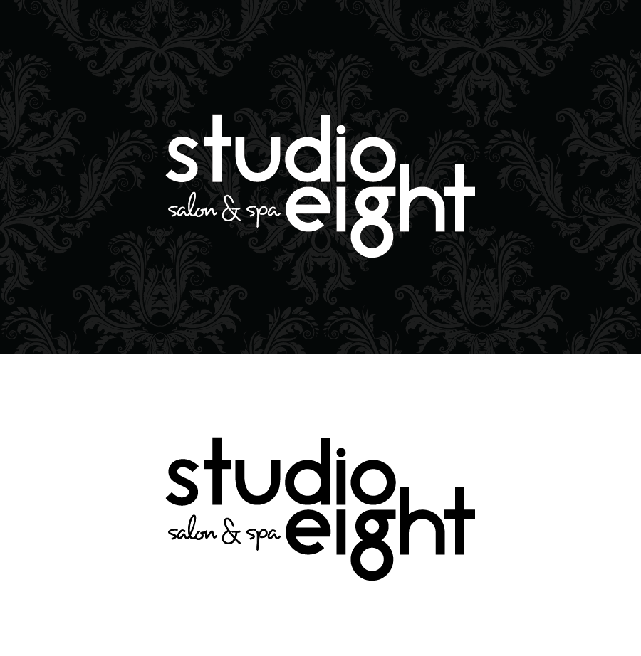Logo Design by Christina Evans - Entry No. 27 in the Logo Design Contest Captivating Logo Design for studio eight salon & spa.