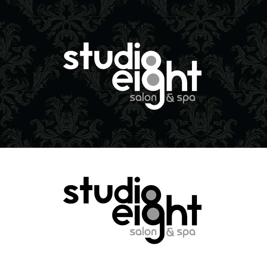 Logo Design by Christina Evans - Entry No. 29 in the Logo Design Contest Captivating Logo Design for studio eight salon & spa.