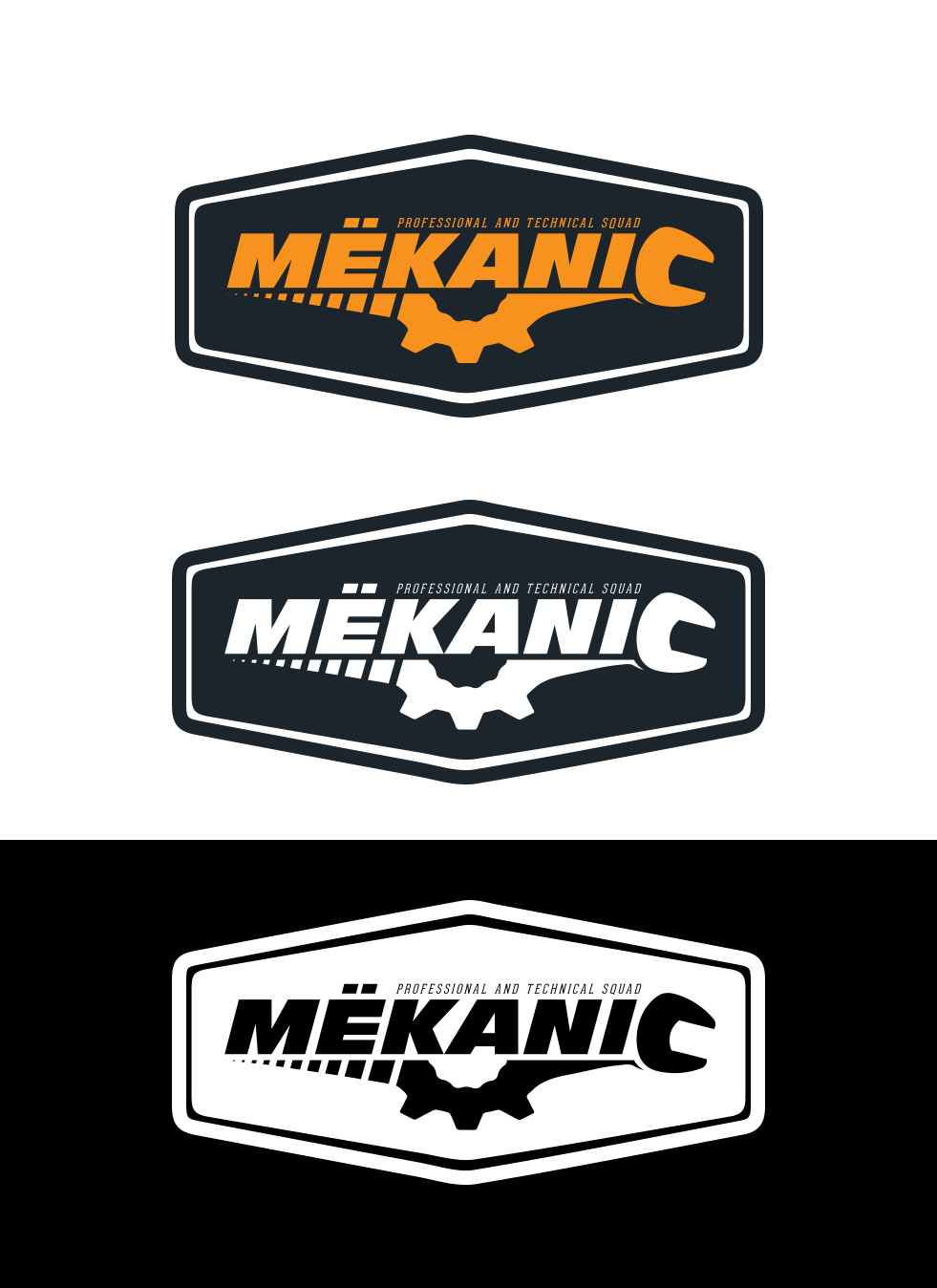 Logo Design by olii - Entry No. 249 in the Logo Design Contest Creative Logo Design for MËKANIC - Professional and technical squad.