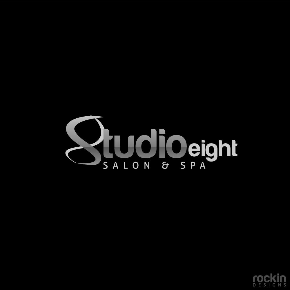 Logo Design by rockin - Entry No. 32 in the Logo Design Contest Captivating Logo Design for studio eight salon & spa.