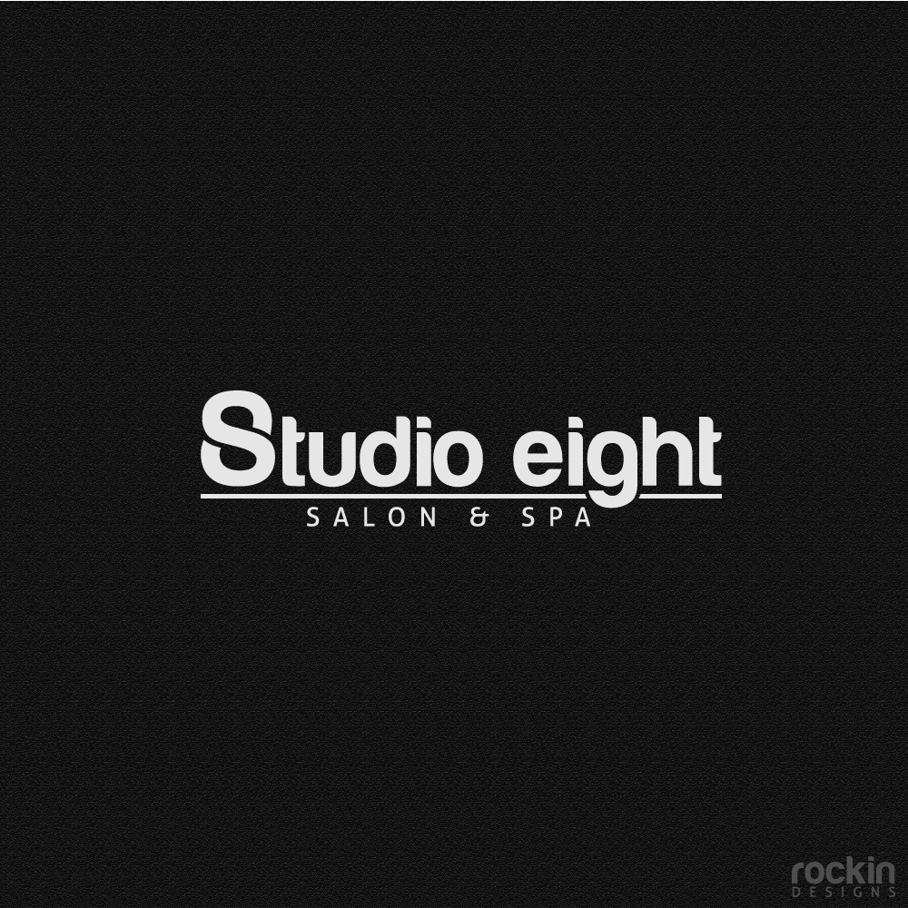 Logo Design by rockin - Entry No. 33 in the Logo Design Contest Captivating Logo Design for studio eight salon & spa.