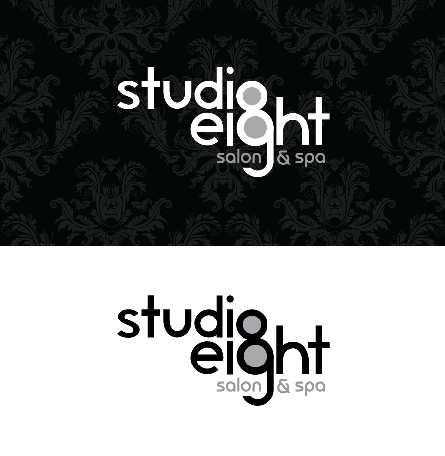Logo Design by Christina Evans - Entry No. 34 in the Logo Design Contest Captivating Logo Design for studio eight salon & spa.