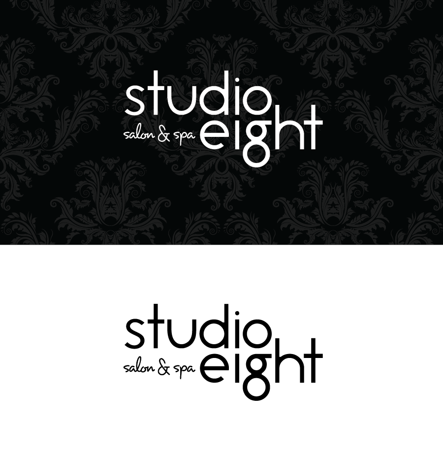 Logo Design by Christina Evans - Entry No. 35 in the Logo Design Contest Captivating Logo Design for studio eight salon & spa.