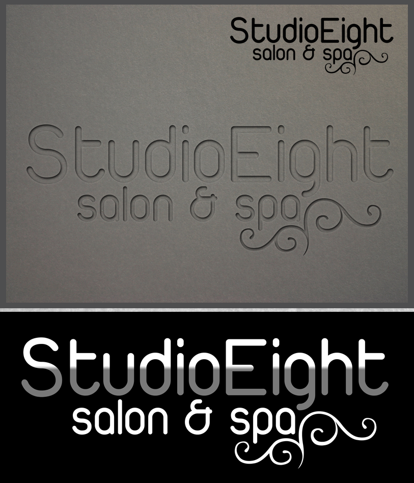 Logo Design by Private User - Entry No. 38 in the Logo Design Contest Captivating Logo Design for studio eight salon & spa.