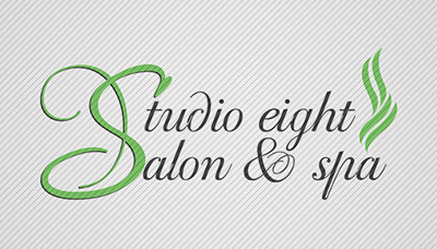 Logo Design by mediaproductionart - Entry No. 39 in the Logo Design Contest Captivating Logo Design for studio eight salon & spa.