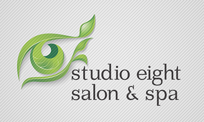 Logo Design by mediaproductionart - Entry No. 42 in the Logo Design Contest Captivating Logo Design for studio eight salon & spa.