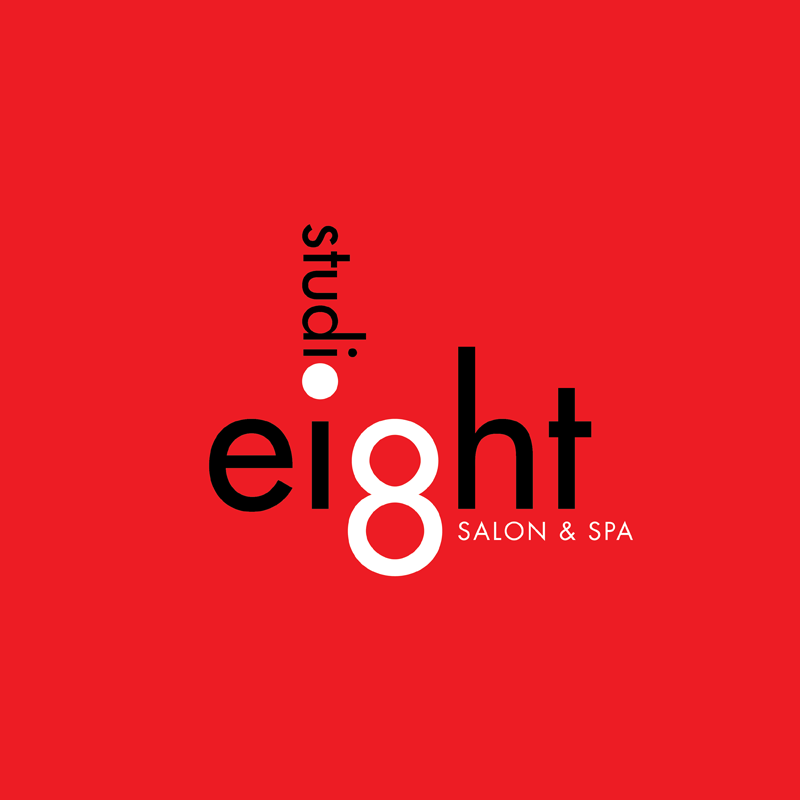 Logo Design by kianoke - Entry No. 44 in the Logo Design Contest Captivating Logo Design for studio eight salon & spa.