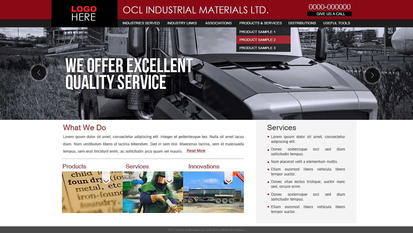 Web Page Design by Top Elite - Entry No. 51 in the Web Page Design Contest Imaginative Web Page Design for OCL Industrial Materials Ltd..