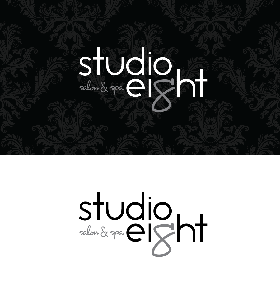 Logo Design by Christina Evans - Entry No. 46 in the Logo Design Contest Captivating Logo Design for studio eight salon & spa.