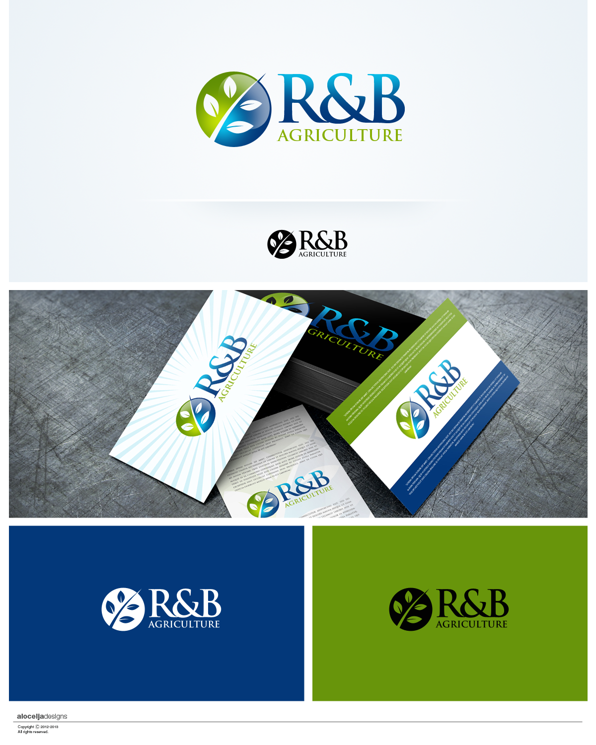 Logo Design by alocelja - Entry No. 57 in the Logo Design Contest Captivating Logo Design for R & B Agriculture.
