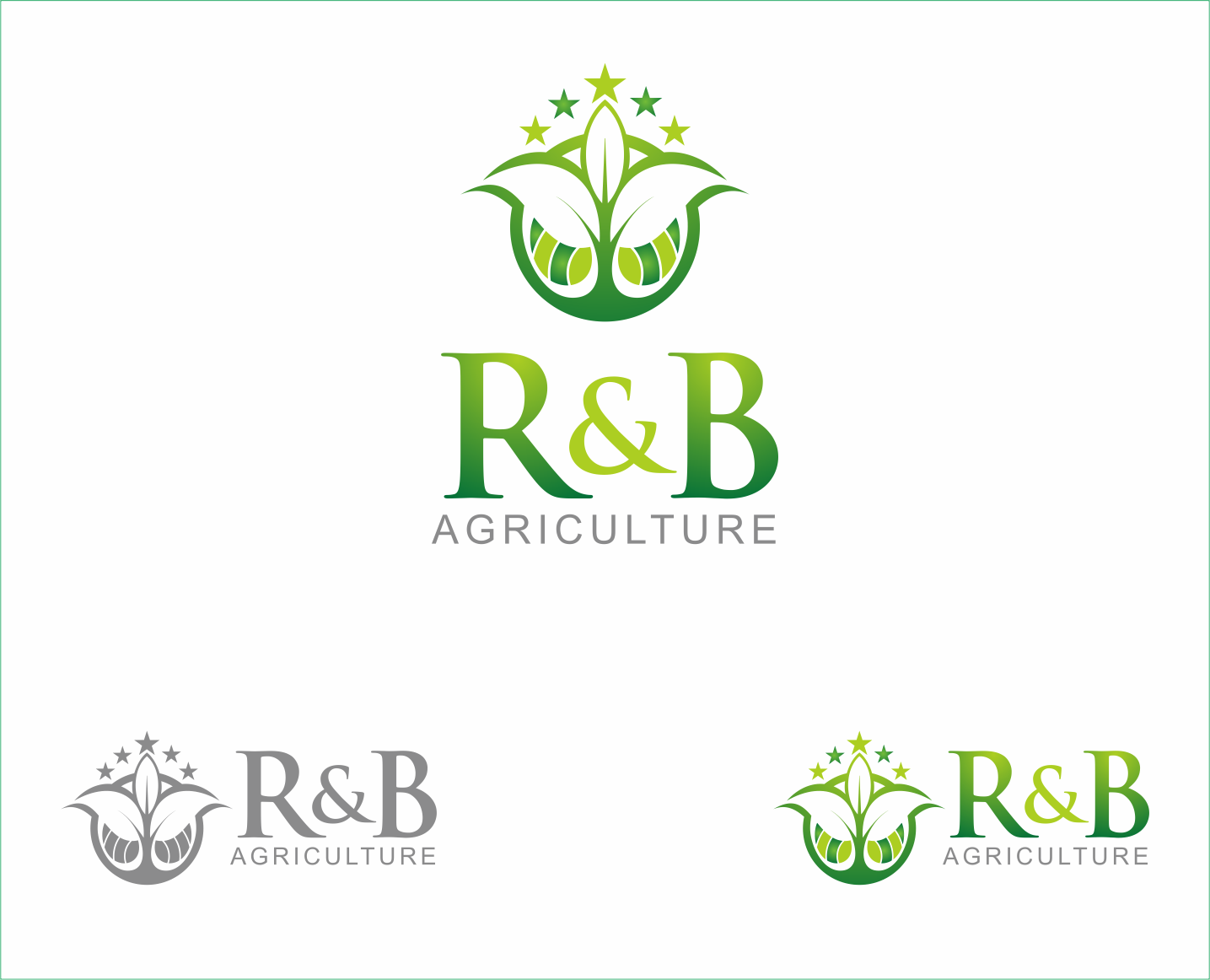 Logo Design by Armada Jamaluddin - Entry No. 58 in the Logo Design Contest Captivating Logo Design for R & B Agriculture.
