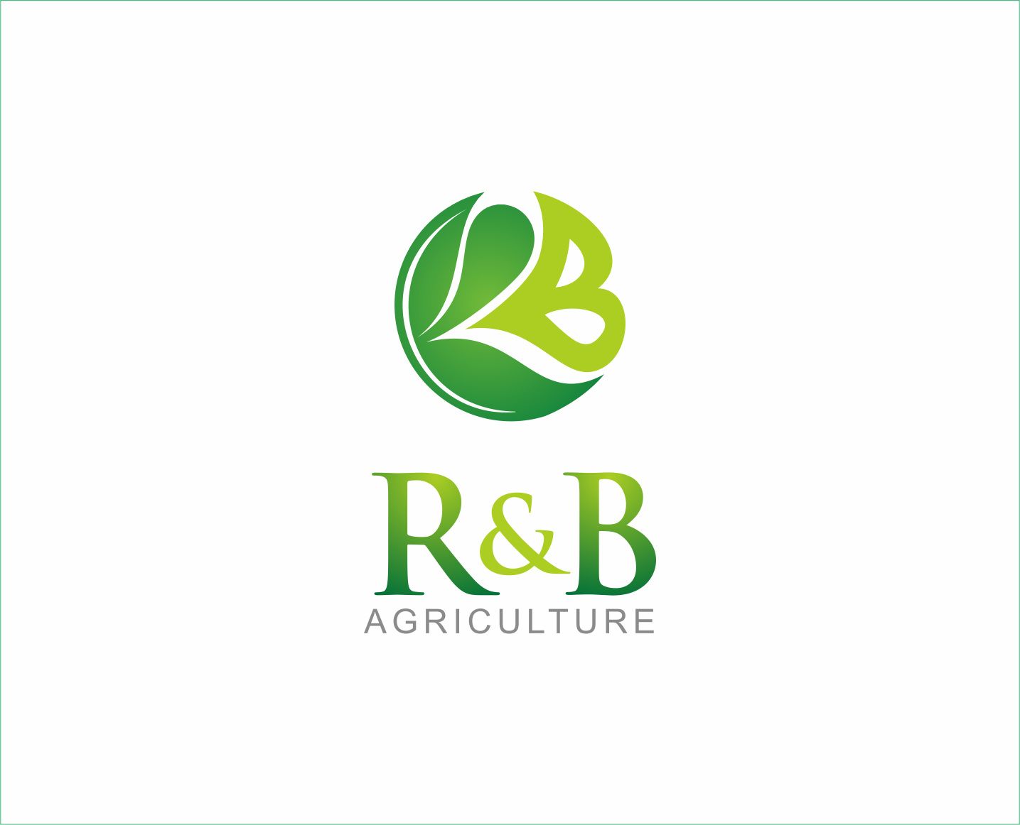 Logo Design by Armada Jamaluddin - Entry No. 59 in the Logo Design Contest Captivating Logo Design for R & B Agriculture.