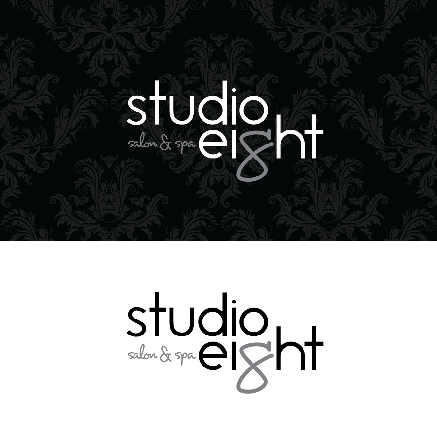 Logo Design by Christina Evans - Entry No. 48 in the Logo Design Contest Captivating Logo Design for studio eight salon & spa.