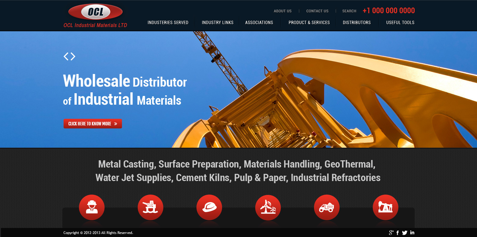 Web Page Design by Private User - Entry No. 53 in the Web Page Design Contest Imaginative Web Page Design for OCL Industrial Materials Ltd..