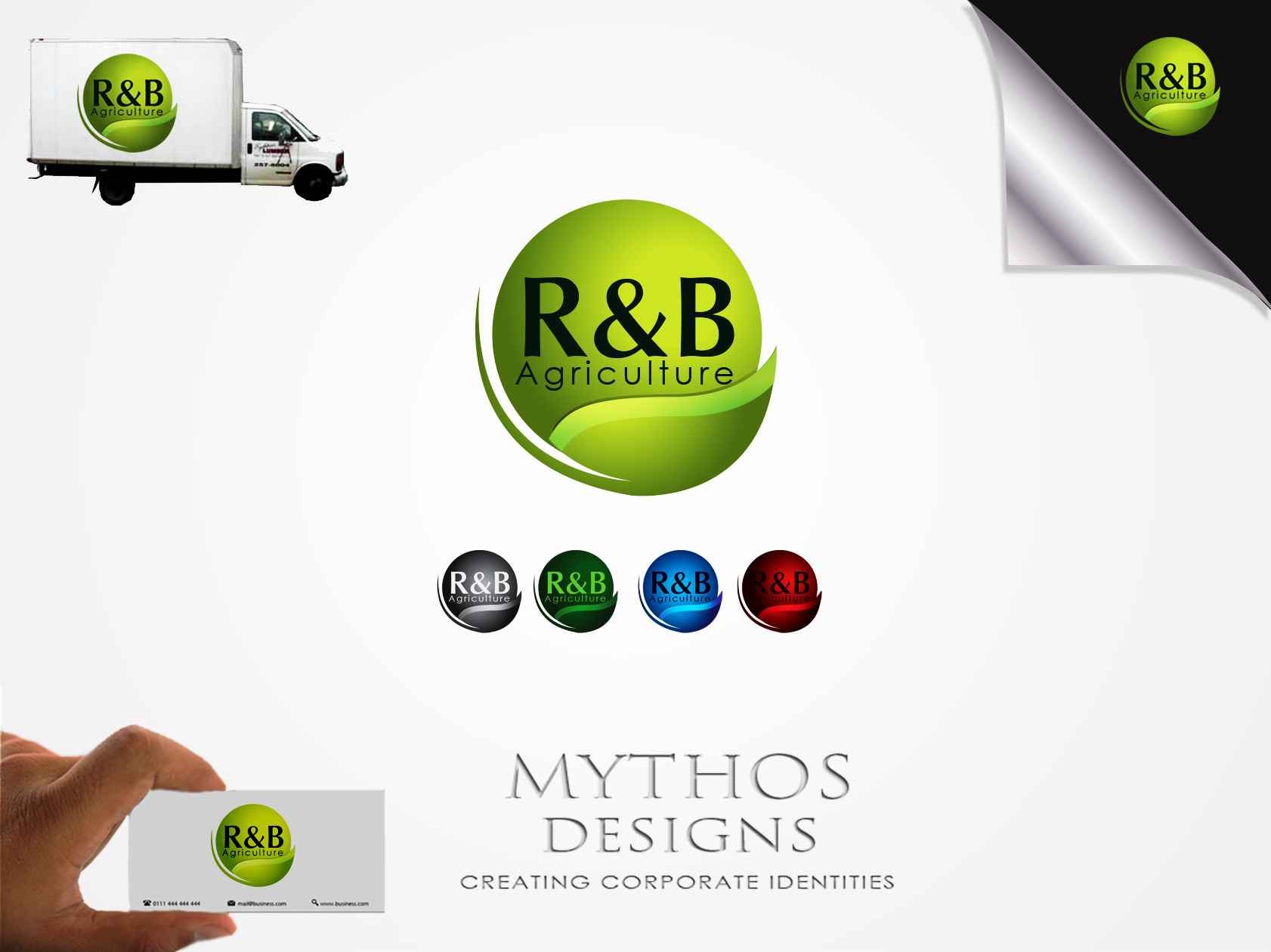 Logo Design by Mythos Designs - Entry No. 65 in the Logo Design Contest Captivating Logo Design for R & B Agriculture.