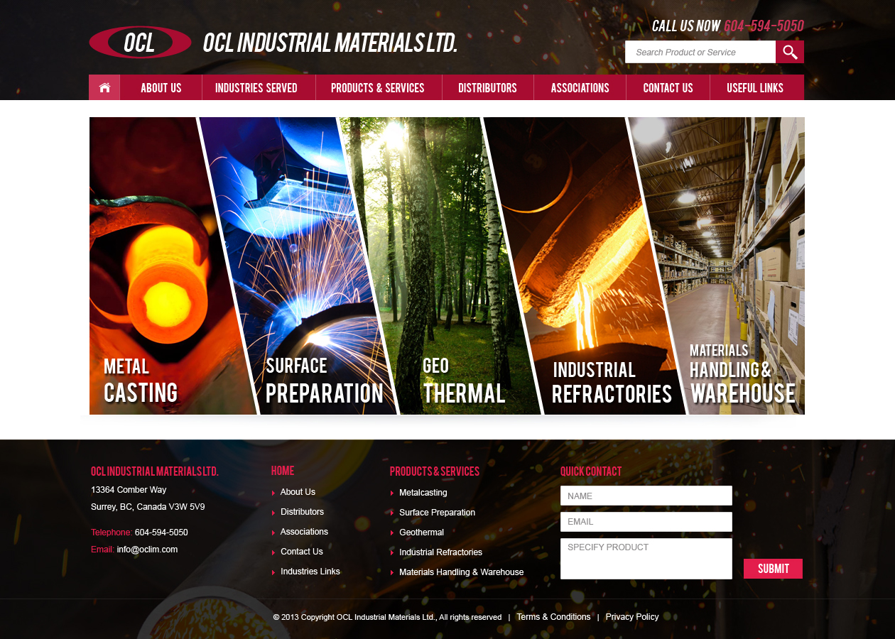 Web Page Design by Emad A Zyed - Entry No. 55 in the Web Page Design Contest Imaginative Web Page Design for OCL Industrial Materials Ltd..