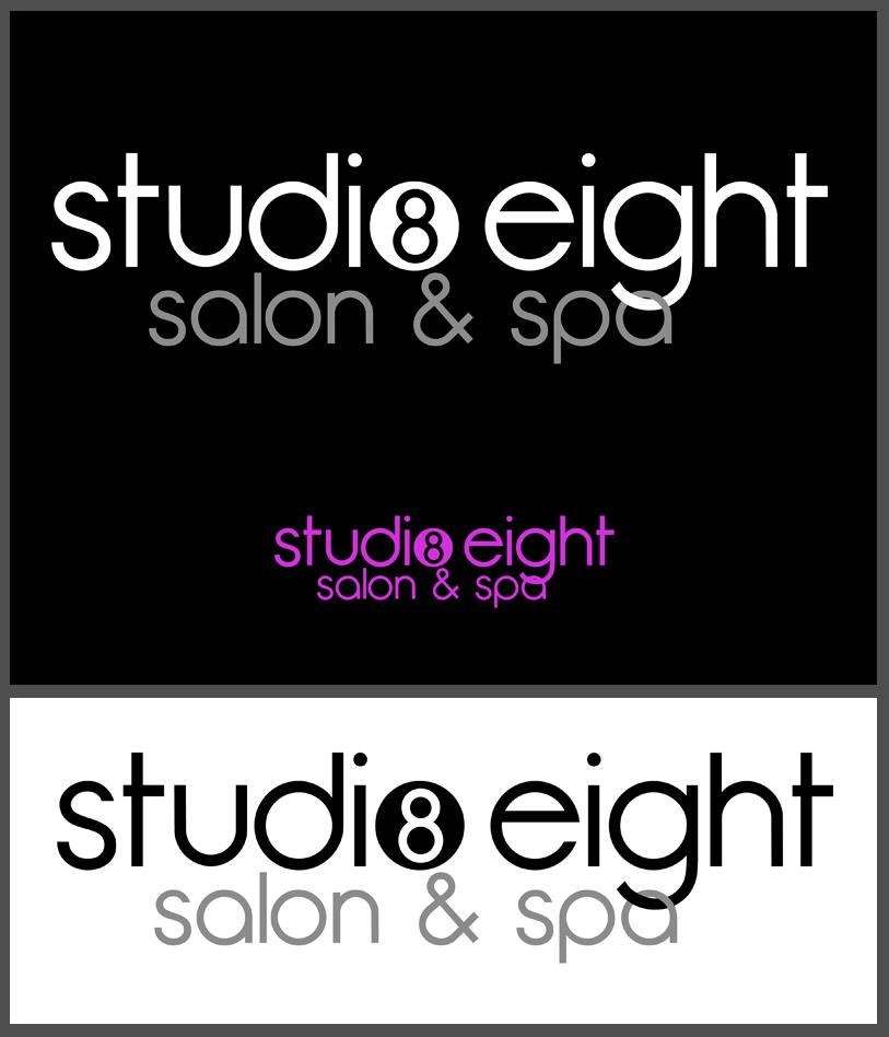 Logo Design by Private User - Entry No. 51 in the Logo Design Contest Captivating Logo Design for studio eight salon & spa.