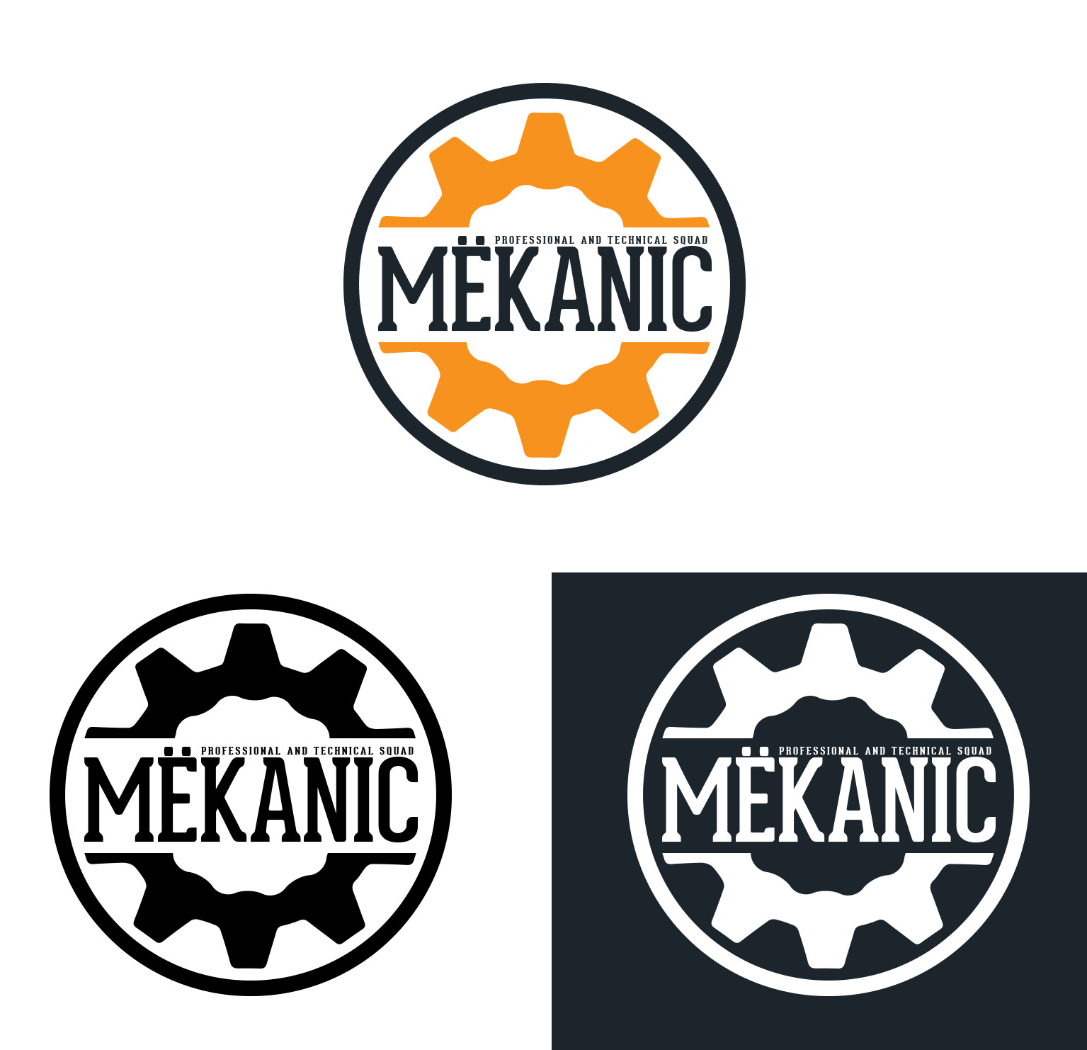 Logo Design by olii - Entry No. 274 in the Logo Design Contest Creative Logo Design for MËKANIC - Professional and technical squad.