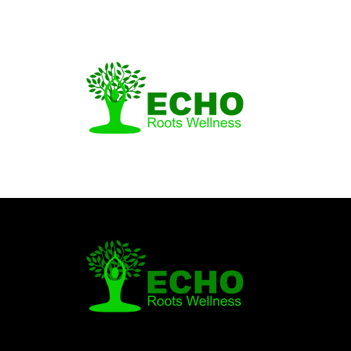 Logo Design by Bobby Yoga P - Entry No. 9 in the Logo Design Contest Funky Logo Design for Echo Roots Wellness.